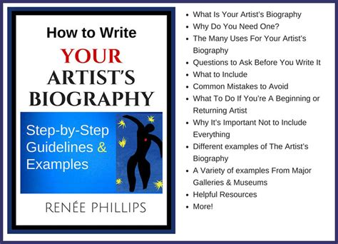 artist biography 100 words art website