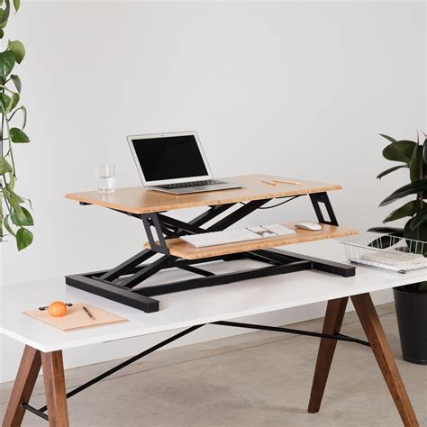 Cooper Standing Desk Converter For Flexible Use Fully Standing Office Desk