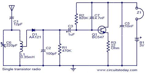 single transistor fm transmitter circuit diagram single transistor radio electronic circuits and diagrams electronic projects and design