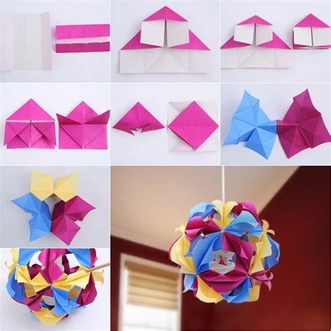 Origami Crafts Ideas - how to diy beautiful origami paper lantern