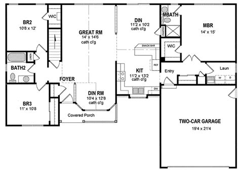 one level home plans attractive one level home plan 19506jf architectural designs house plans