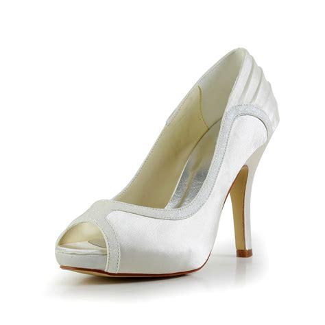 Womens Ivory Wedding Shoes by S Amazing Satin Stiletto Heel Ivory Wedding Shoes