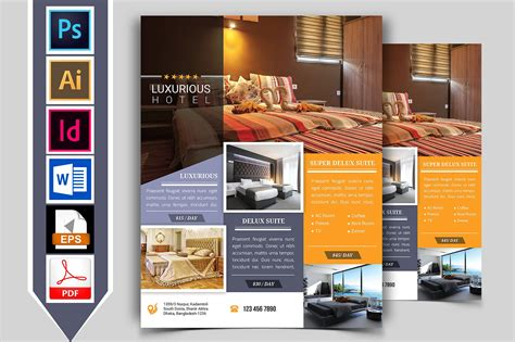 Hotel Flyer Design Template hotel flyer template vol 01 flyer templates creative