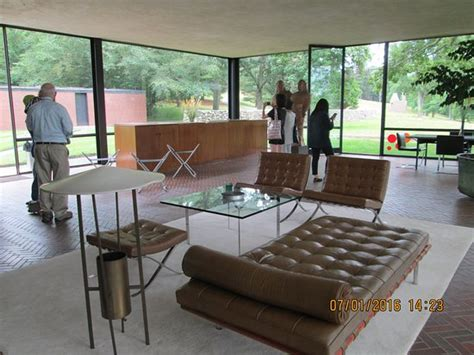 philip johnson glass house interior study or library not part of my tour picture of the