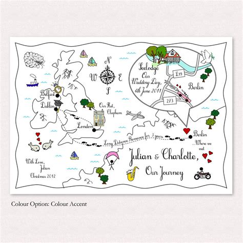 layout pinch zoom print your own colour wedding or party illustrated map by