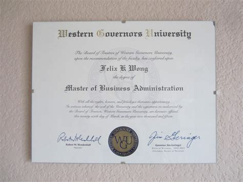 Bs Mba Diploma by How I Did An Mba In 4 5 Months At Western Governors
