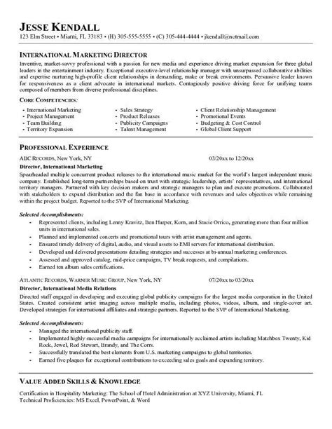 Best International Resume Sles Director Of Marketing Resume Berathen