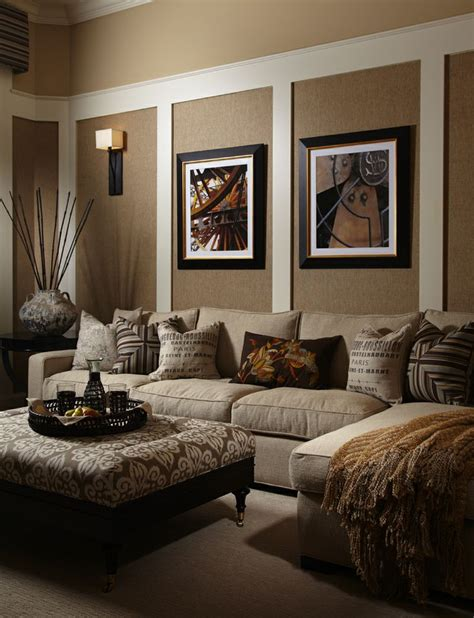 Pictures Of Beige Living Rooms by Sleek Chic Brwn Living Room Home Sweet Home Decor
