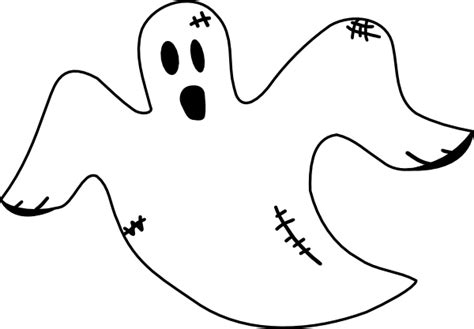 printable ghost images stitched ghost clip art at clker com vector clip art