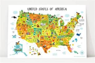 map of the united states for children usa map for playroom decor nursery classroom