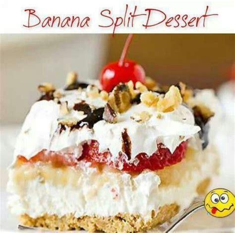 banana split dessert receipes desserts