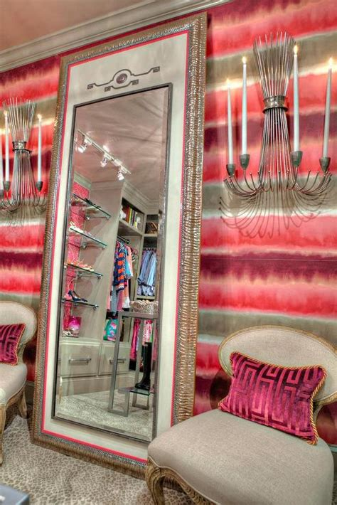 closet mirrored wallpaper dressing room dream contemporary walk in closet with leaning floor mirror