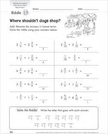 adding unlike fractions worksheets kelpies