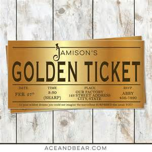 willy wonka invitations templates willy wonka birthday golden ticket birthday invitation