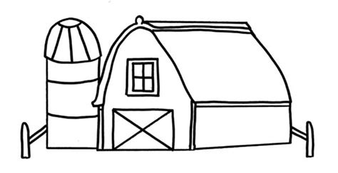 easy barn coloring pages free simple barns coloring pages