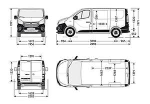 Vauxhall Dimensions The Gallery For Gt Vauxhall Vivaro Dimensions