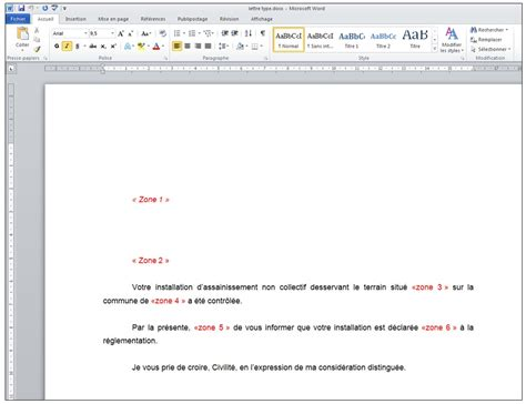 Exemple De Lettre Type Pour Publipostage Publipostage Avec Word Et Excel 2010 Je Me Forme Au Num 233 Rique