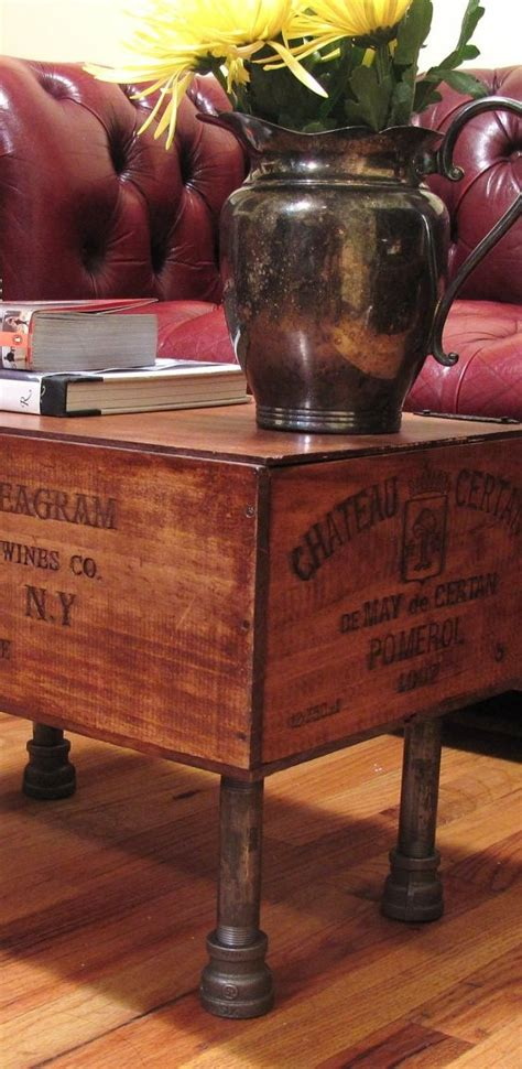 Wine Box Coffee Table I This Upcycled Wine Crate Coffee Table Diy