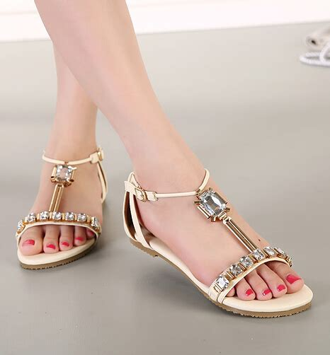 gold peep toe flat shoes beaded peep toe flat fashion sandals in metallic gold on