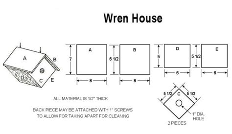 wren bird house plans build a wren bird house with free plans craftybirds