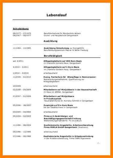 Lebenslauf Und Arbeitssuchend 8 Lebenslauf Arbeitssuchend Recommendation Template