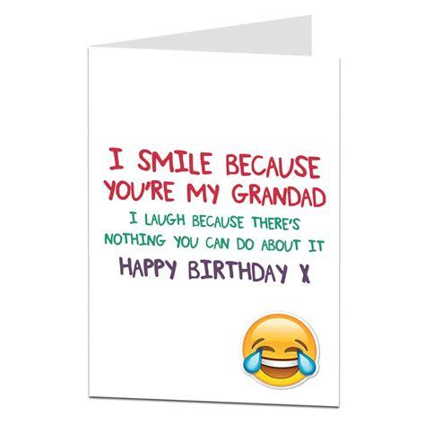 because you re my friend greeting card happy birthday happy birthday card for grandad ebay