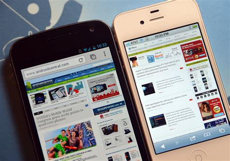 safari for android chrome vs safari galaxy nexus vs iphone 4s android central