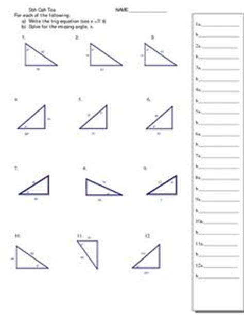 solving right triangles worksheet solving right triangles using trigonometry worksheet free worksheets library and