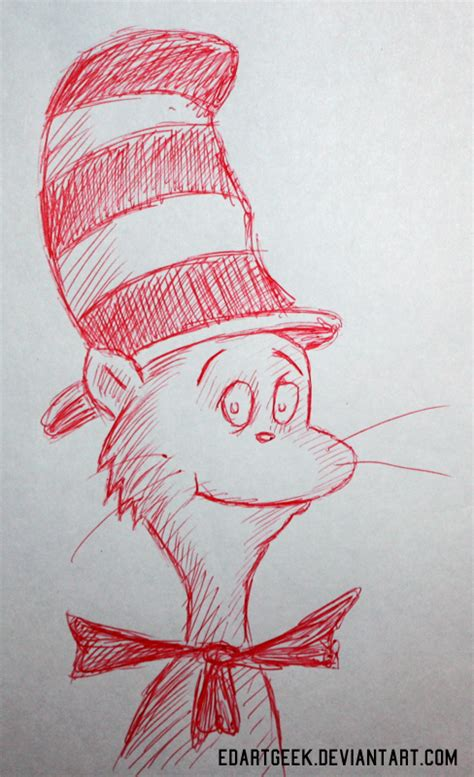 doodle cat how to make a hat cat in the hat doodle by edartgeek on deviantart