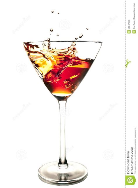 red martini splash red cocktail with splash royalty free stock image image