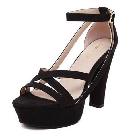high strappy heels black platform high heel strappy sandals
