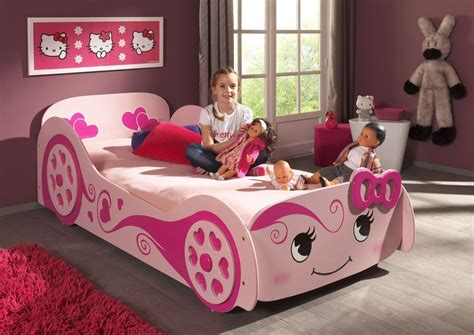 girls car bed pink 3ft single f1 princess racer car bed frame