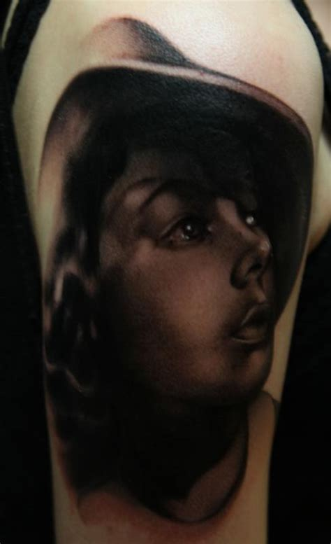 black and grey portrait tattoo dvd casablanca movie black and gray portrait tattoo by mike
