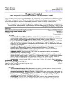 Mba Resume Templates by Sle Mba Resume Free Resumes Tips