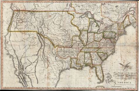 map of united states 1820 geographicus antique maps