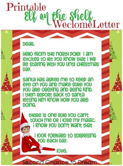 On The Shelf Welcome Letter