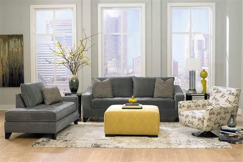 Living Room Grey Sofa Living Room Grey Sofas With Grey Wall Paint Decorating Also Yellow Bench Table Also Rug