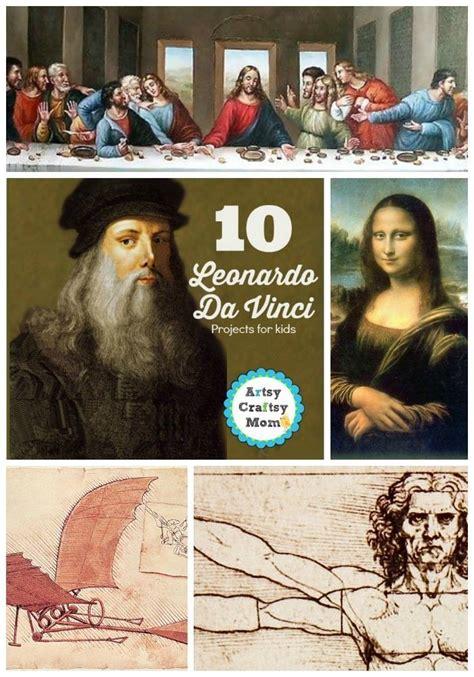 leonardo da vinci biography for elementary students 28 best leonardo davinci art and science for kids images