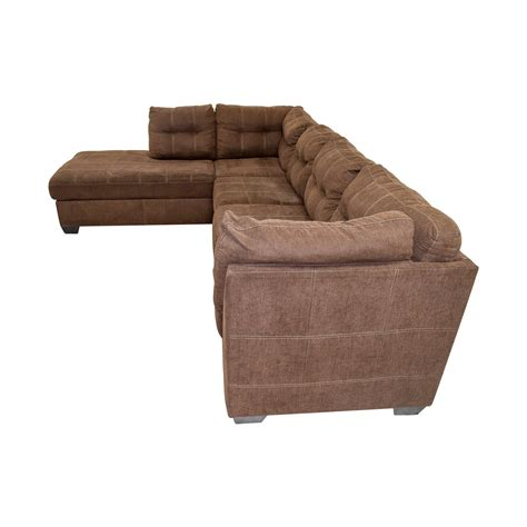 brown l shaped sofa 64 brown l shaped chaise sectional sofa sofas