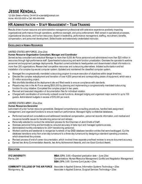 best hr resume sles best resume resources resume ideas