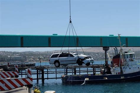 ferry from adelaide to port lincoln bodies of two children found in submerged car