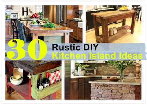 30 rustic diy kitchen island ideas how to