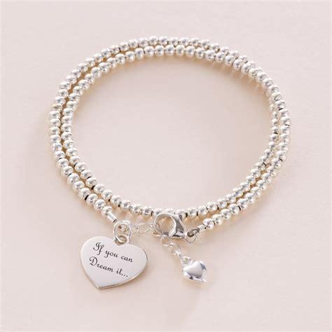 wrap personalised silver friendship bracelet