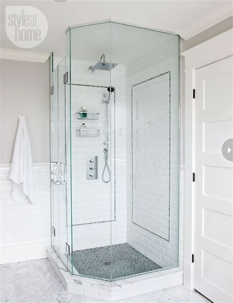 Stand Up Shower Pan by Showers Corner Showers And Subway Tiles On Pinterest