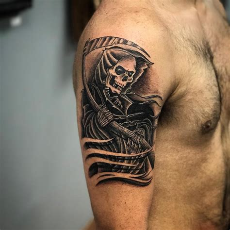 tattoo grim reaper 95 best grim reaper designs meanings 2019