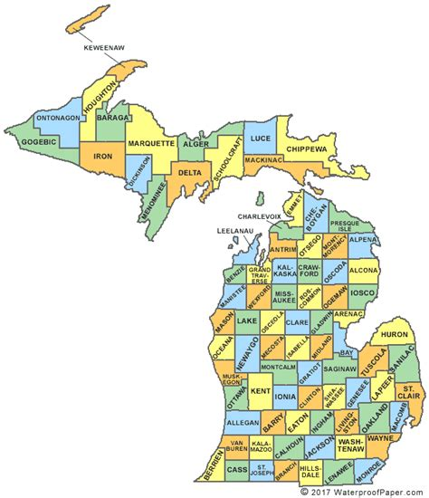 michigan state map printable michigan maps state outline county cities