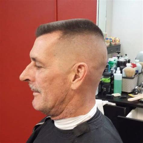 60 year old man with a brush cut 60 military haircut ideas menhairstylist com