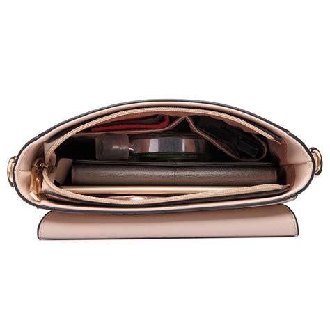Beige Plain Cross Bag lt6631 frauen kunstleder plain satchel m 228 dchen cross