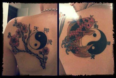 couple koi tattoo couples tattoo koi fish ying yang chinese symbols ink