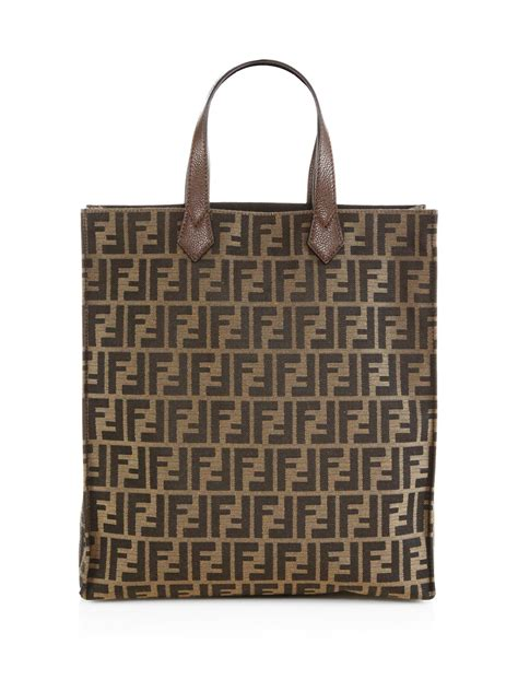 fendi signature monogram shopping bag  brown tobacco